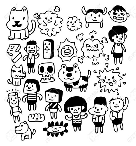 free vector doodle characters mythical creatures drawings search