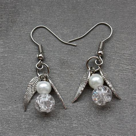 Pearls Wings 2 wings earrings metal wings earrings wings bead