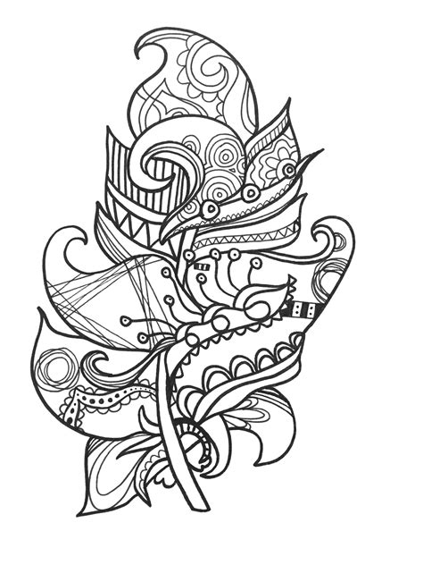 feather coloring page january 2016 is