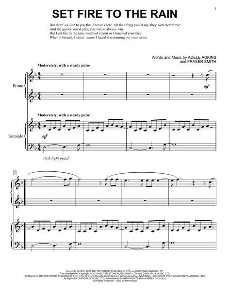 tutorial piano adele set fire to the rain partition piano set fire to the rain de adele 4 mains