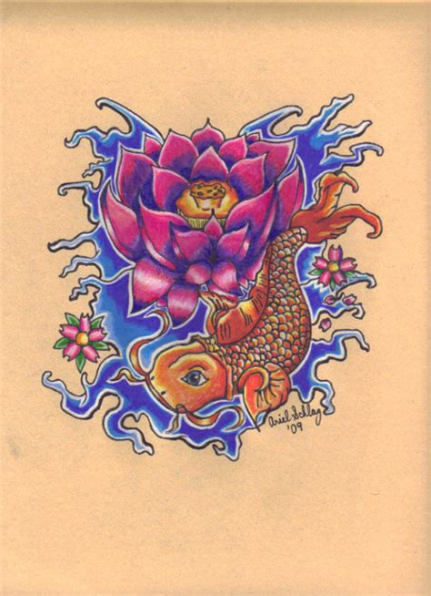 koi fish with lotus flower tattoo designs tattoos change august 2014