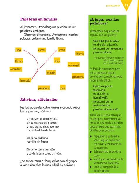 librero familia de palabras espa 241 ol 4to grado by rar 225 muri issuu