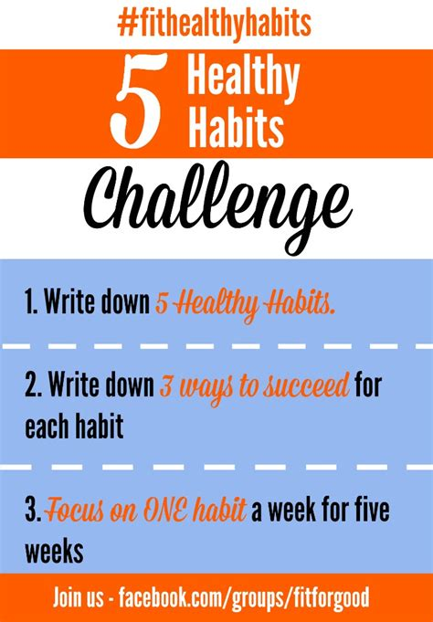 Healthy Habits For A Healthy 5 Healthy Habits Challenge Fit For The Happy Real
