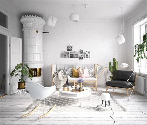 wohnzimmer eingerichtet helles wohnzimmer im skandinavischen stil eingerichtet