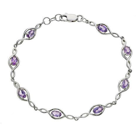 viva bracelets viva colour silver amethyst bracelet h samuel