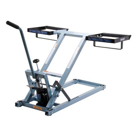 lawn mower repair lift table t 5305 500 lb capacity lawnmower lift 2 bar