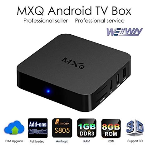 Mxq S805 Smart Tv Box 1080p mxq tv box android 4 4 amlogic s805 1g 8gb fully loaded wifi 1080p media