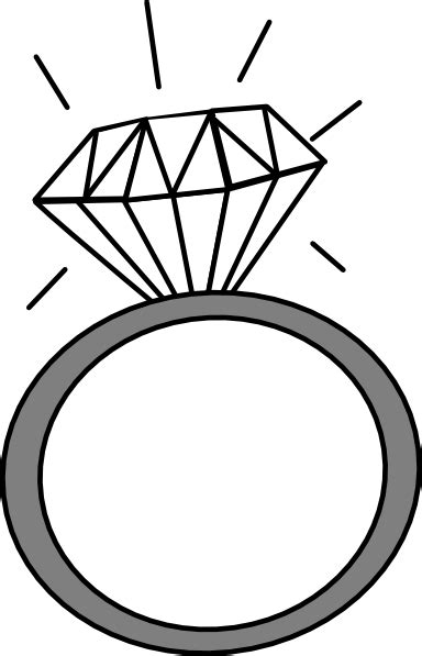 Wedding Ring Clipart Black And White by Clip Wedding Ring