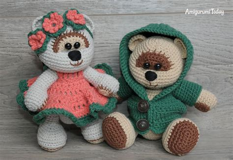 amigurumi love pattern honey teddy bears in love crochet pattern amigurumi today