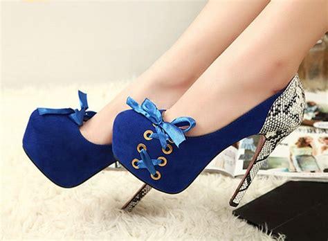 imagenes de zapatillas de tacon con frases de amor tacones de moda 2018 187 tacones cerrados color azul el 233 ctrico 4
