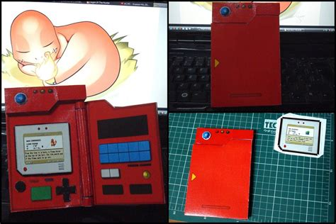 How To Make A Paper Pokedex - pokedex kanto papercraft by aedismon on deviantart