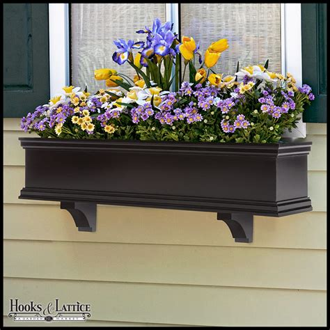 black window box black window boxes pvc window flower boxes diy hooks
