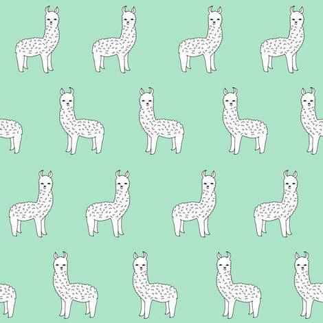 cute llama pattern alpaca mint green alpaca fabric cute llama design best
