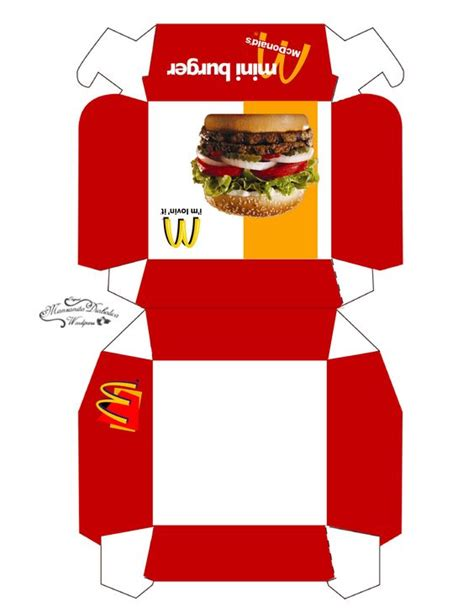 templates for miniature boxes box template printable box templates and burgers on pinterest
