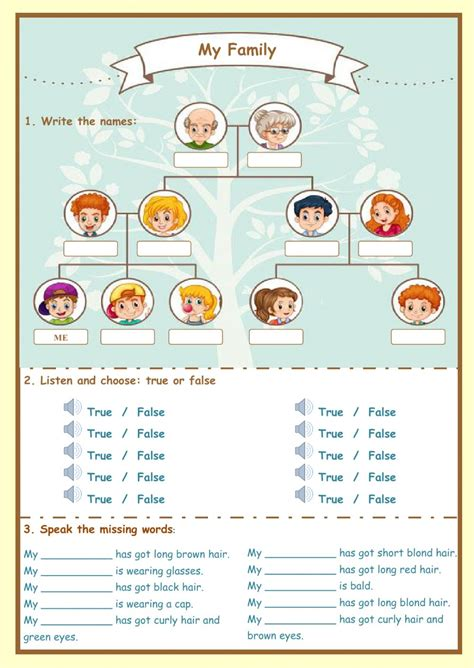 La Familia Worksheet Pdf
