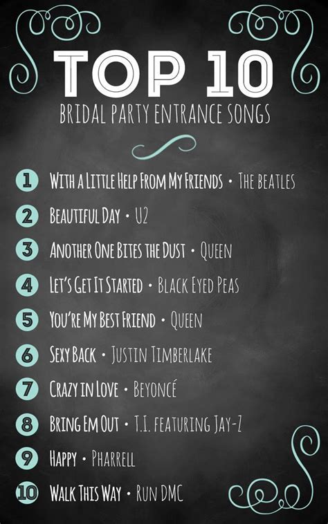 top  bridal party entrance songs wedding inspiration