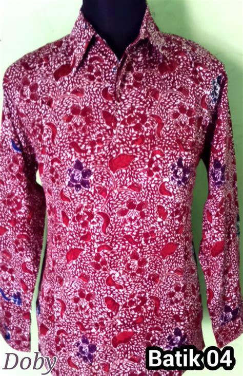 jual baju batik pria lengan panjang tradisional eksklusif