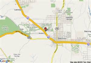 map of beaumont california map of inn express hotel suites beaumont oak
