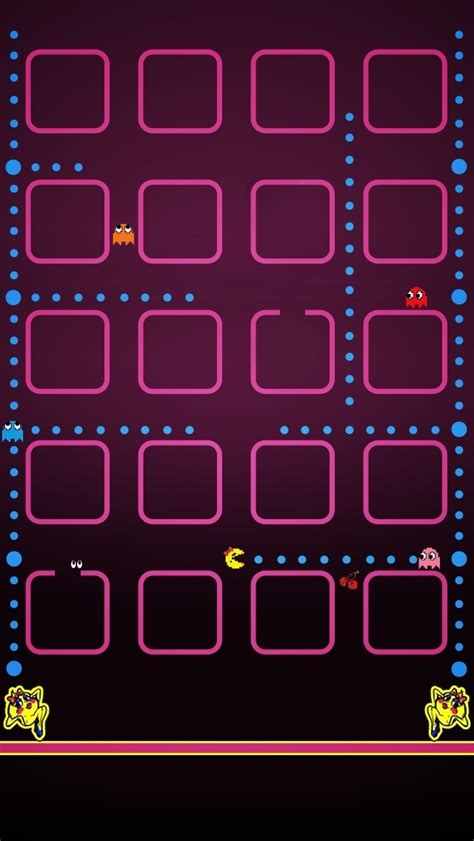 wallpaper iphone 5 icon pacman the iphone wallpapers