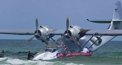 flying boat the movie air museum network pby beached during filming of wwii movie