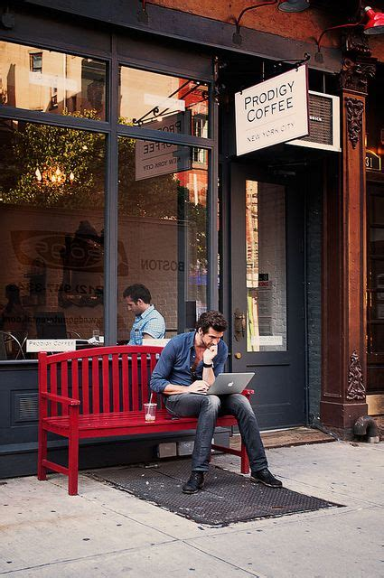 cafe bench ny prodigy coffee west village new york devaneios