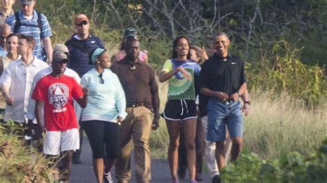 obama hawaii president obama goes hiking with malia in hawaii nbc news