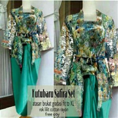 St Kulot Bunga Cantik Tosca baju dress kebaya modern cantik terbaru murah