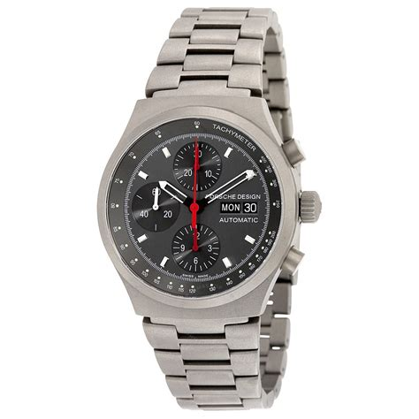 porsche design titanium bracelet grey chronograph