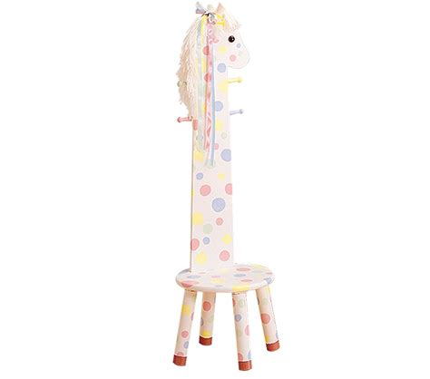 Childrens Coat Rack by Dreamfurniture Teamson Pony Stool With Coat