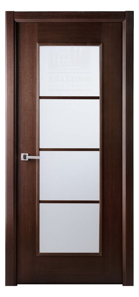 Wood Interior Doors With Glass Sensational Glass Panels Modern Interior Doors With Brown Wooden Frames As Well As Chrome Pull