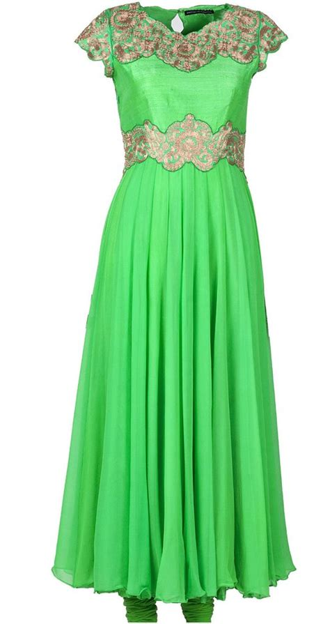 pista green color long anarkali suit panache haute couture light green color long anarkali panache haute couture