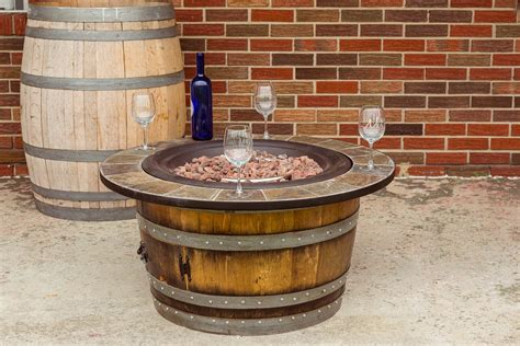 wine barrel pit wine barrel furniture