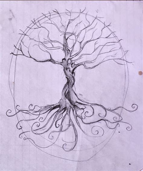 Tree Of Life Mural Painting Grayden Laing Painting Sketches For