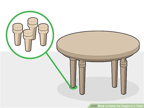 how to raise table height 3 ways to raise the height of a table wikihow