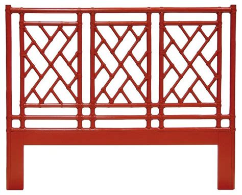Pavilion Queen Headboard Smooth Red Asian Headboards