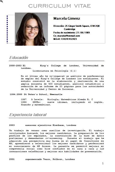Plantilla De Curriculum Vitae Estudiante Plantilla Limpia Y Ordenada Curriculumsvitae Net