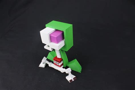 you can now 3d print minecraft creepers with all the