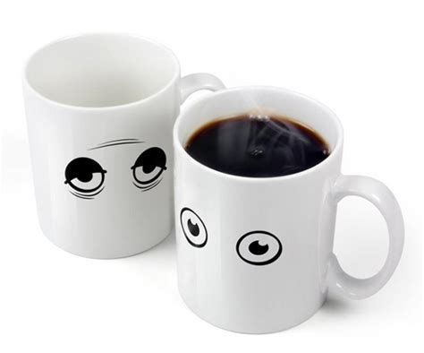 coffee mug eye m wide awake heat activated coffee mug incredible