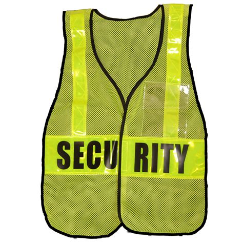 Comfort Colors Lime Reflective Security Vest Lime Yellow