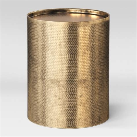 drum accent tables manila cylinder drum accent table brass project 62 target