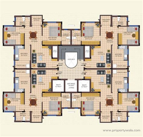 typical floor plan landmark dreamz homes abbigere bangalore apartment