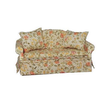dolls house sofa floral sofa for dolls house furniture df1478 from