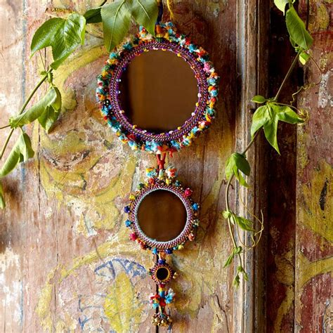 Handmade Wall Hangings Indian - handmade mirror wall hanging creative giri