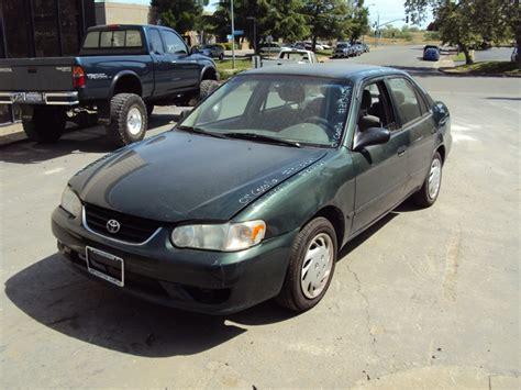 2001 Toyota Corolla Green 2001 Toyota Corolla 4 Door Sedan Ce Model 1 8l At Fwd