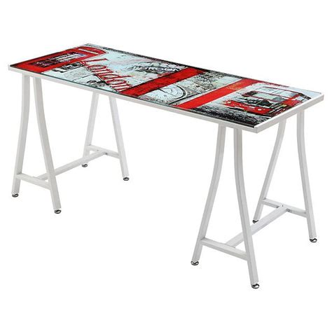 escritorio vidrio escritorio vidrio 150x60x76 cm sodimac 60
