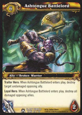 wow tcg chion deck ashtongue battlelord black temple raid deck