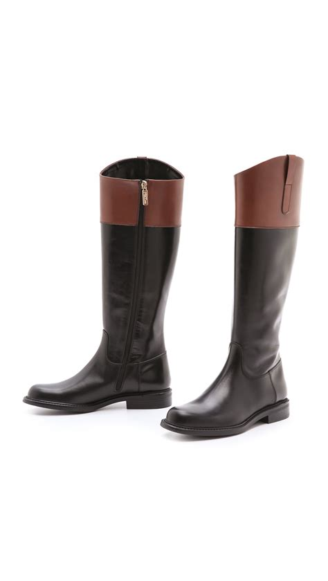 two toned boots studio pollini two tone boots in black lyst