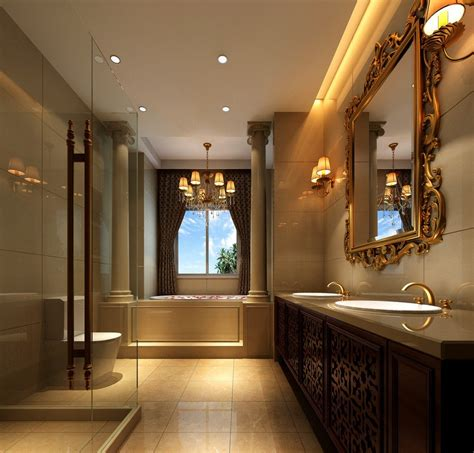 luxury bathroom interior design neoclassical 3d house