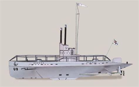 Submarine Papercraft - new paper craft simple sm u 9 submarine free paper model