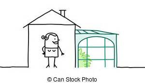 veranda zeichnen real estate haus charaktere